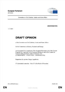 Draft Opinion Data Governance Act